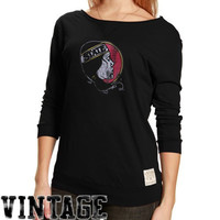 Original Retro Brand Florida State Seminoles :FSU: Ladies Black 3/4 Sleeve Scoop Neck Vintage Premium T-shirt