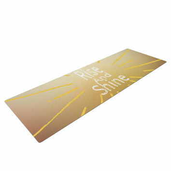 "Suzanne Carter ""Rise And Shine"" White Yellow Yoga Mat"