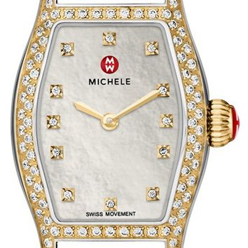 Women's MICHELE Diamond Dial Watch Case, 23mm x 33mm