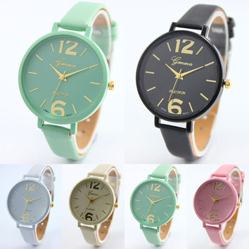 Women Gofuly Brand Luxury Fashion Casual Quartz Watches Faux Leather Sport Lady Relojes Mujer Wristwatches Girl Dress Watch