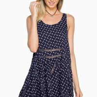 ShopSosie Style : Light As A Feather Dress in Navy