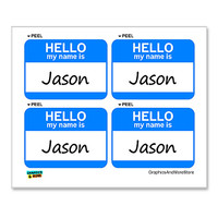 Jason Hello My Name Is - Sheet of 4 Stickers