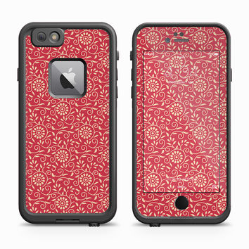 Red and Yellow Snail Swirl Skin for the Apple iPhone LifeProof Fre Case