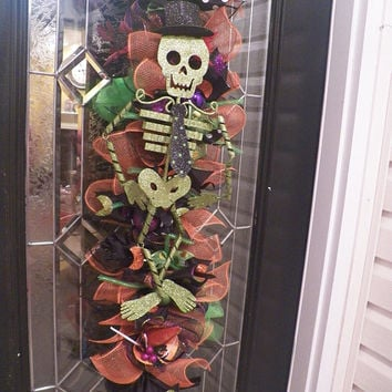 Halloween Door Swag, Halloween Wreath, Halloween Decoration