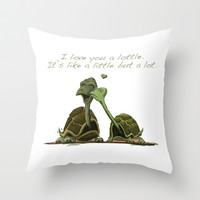 Lottle Love Turtles Throw Pillow by Lottle