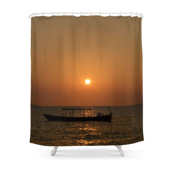 Society6 Sunset Otres Beach Sihanoukville Cambodia Shower Curtain