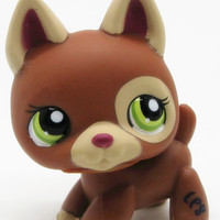 LPS Lovely Pet shop animal dog action figure littlest doll German Shepherd Puppy green eyes #1362