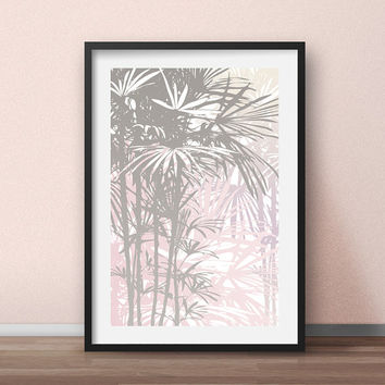 Hawaiian art print, Hawaiian print, Hawaiian decor, Palm tree decor, Tropical art, Tropical decor, Hawaiian poster, Plant art Plant wall art