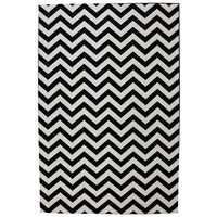 Woven Indoor/Outdoor Heringbone Rug - Black
