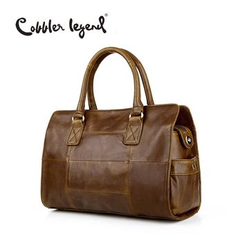 Cobbler Legend New Arrival Genuine Leather Women's Satchel Briefcase