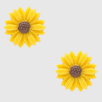 Sunflower Bella Earrings - Yellow - One Size / Yellow