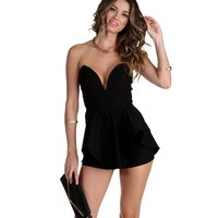 Sale-black Too Good To Be True Romper
