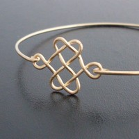 Celtic Knot Bracelet - Gold, Celtic Knot Bangle, Celtic Knot Jewelry, Celtic Jewelry, Irish Jewelry, Irish Bracelet, Celtic Bracelet