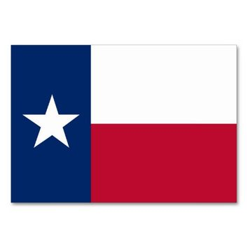 Patriotic table card with Flag of Texas