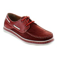 Jose-81 Men's Two Tone Lace Up Moccasin-Style Driving Boat Shoes