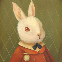 The White Rabbit Print 11x14