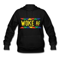 Woke af - Tribal Design (Yellow Letters) Hoodie | STAY WOKE T-SHIRT CLOTHING AND ACCESSORIES