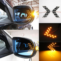 New 14 LED 1210 SMD Arrow Panels for Car Side Mirror Turn Lights A Pair