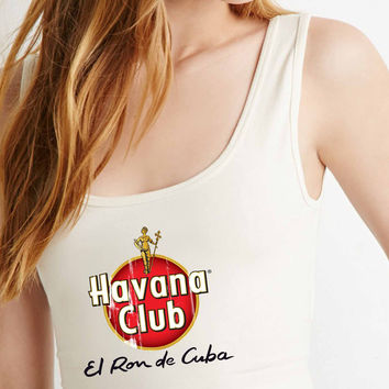Havana Club Vintage logo  for Crop Tank Girls S, M, L, XL, XXL **