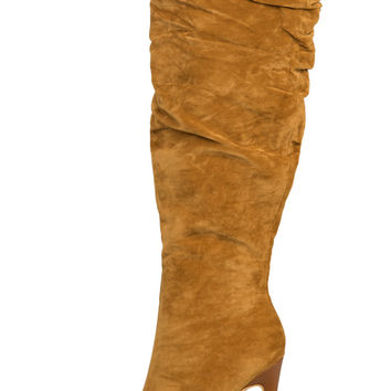 Nicky Knee High Boot (Camel)-FINAL SALE