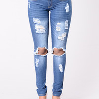 Dream On Jeans - Medium Wash