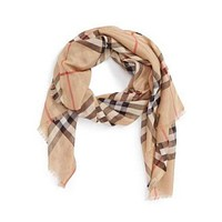 Burberry Check Modal Cashmere and Silk Scarf $395