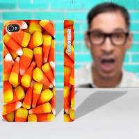 Candy Corn Halloween Sweets Phone - iPhone 4 or 5 or 4s or Galaxy S3  - Hard Case Cover - High Quality Full Wrap Image 3D Case