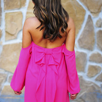 Happily Ever After Bow Dress: Hot Pink | Hope's