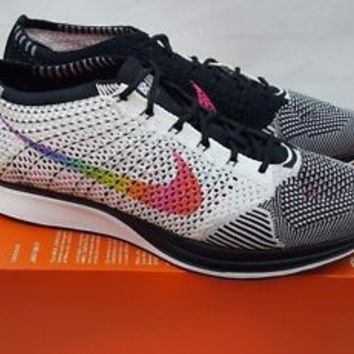 Nike Flyknit Racer Be True LGBT 902366-100 Size Mens 10 Womens 11.5