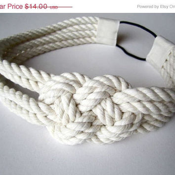 Cotton rope sailor knot headband