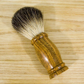Badger Shaving Brush with Wood Handle in Bocote