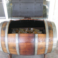 Wine/whiskey  Barrel Ice Chest or Storage chest