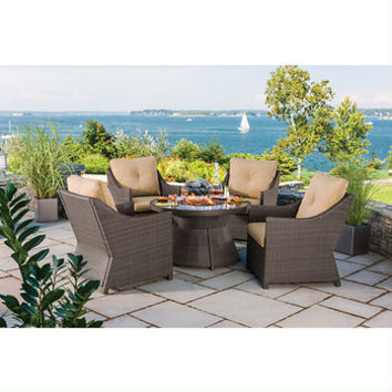Berkley Jensen Antigua 5-Piece Wicker Fire Pit Chat Set