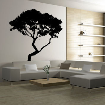 Vinyl Wall Decal Sticker Bending Tree #AC192