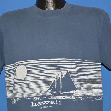 70s Hawaii Wrap Around Print Tourist t-shirt Large