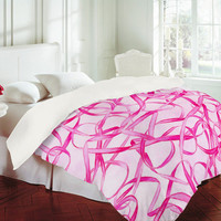 DENY Designs Home Accessories | Jacqueline Maldonado Pink Ribbons Duvet Cover