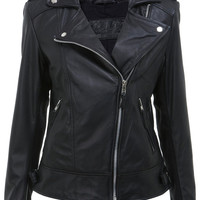 Handmade women black leather jacket, women biker leather jacket , biker leather jackets, pure leather jackets