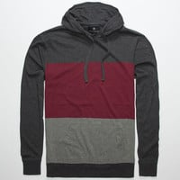 Shouthouse Anthem Mens Lightweight Hoodie Burgundy  In Sizes