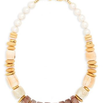 Lizzie Fortunato Pink Sands Freshwater Pearl Collar Necklace | Nordstrom