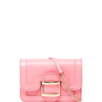Roger Vivier Viv Micro Bordino Shoulder Bag, Pink