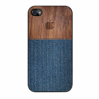 Wood Faux Denim Case iPhone 4 Case
