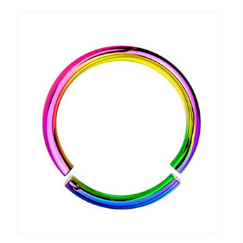 BodyJ4You® 16G Rainbow Anodized Segment Ring