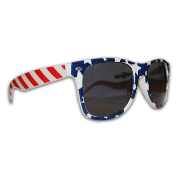 USA Stars Front and Stripe Sides / Sunglasses
