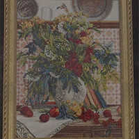 Bucilla Heirloom Collection Autumn Retreat Counted Cross Stitch Kit Floral Fruit