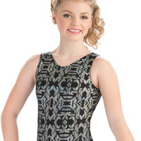 Midnight Azteca Tank Leotard from GK Elite