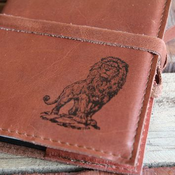 Lion Leather Journal