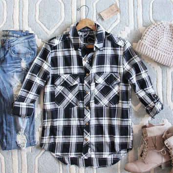 The Everyday Plaid Top in Buffalo