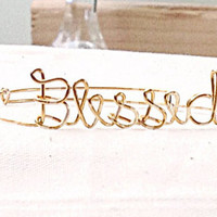 Custom Wire Blessed Bracelet (MADE TO ORDER) Faith Bracelet, Gold Wire Bracelet, Silver Wire Bracelet, Copper Wire Bracelet, Hope Bracelet