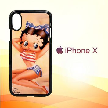 Betty Boop Pinup F0306 iPhone X Case