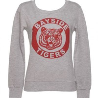 Ladies Grey Saved By The Bell Bayside Tigers Sweater : TruffleShuffle.com